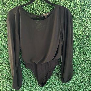 Long sleeve bodysuit blouse